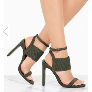 Shoes - Brand new with box olive heels